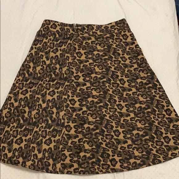 Mads Norgaard Dresses & Skirts - Fresh Denim Women's Brown Leopard Skirt